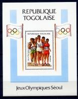 Togo, 1988, Olympic Summer Games Seoul, Marathon, Running, MNH Sheet, Michel Block 308A - Togo (1960-...)