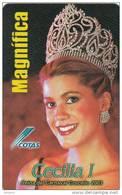BOLIVIA - Cecilia Justiniano, Carnaval 2003, Cotas Telecard 6 Bs., 02/03, Used