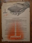 Sainte-Croix (suisse) - Publicité Paillard - 1950  - Tourne-disques Gramophone Portable Radio-gramo Peter Hoddow - Svizzera