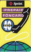 USA -  Sprint Prepaid Card 40 Units, Exp.date 30/06/99, Used - United States