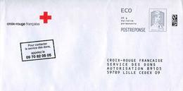 """POSTREPONSE ECO """"CROIX-ROUGE FRANCAISE"""" - Au Verso N° 16P171 - Entiers Postaux"""
