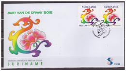 Surinam / Suriname 2012 FDC 352 CNY Jaar V/d Draak Year Of The Dragon - Chinees Nieuwjaar