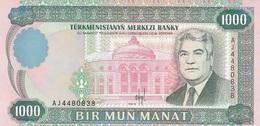 Turmenistan 1000 Manat 1995 - UNC - Turkménistan