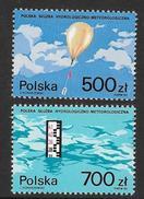 Poland: 1990 Polish Hydrology And Meteorology Service 2v  MNH - 1944-.... République
