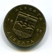 Alberta Canada Wild Rose Medal - Tokens & Medals