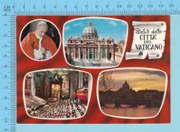 Pape, Papa, Pope - Multivues -  Salutatis Della Citta Del Vaticano, Papa Paulus VI, Pape Paul VI - 2 Scans - Papes