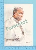 Pape, Papa, Pope - Dinna Bellotti Ritratto Di Papa Giovanni Poalo II, Pape  Jean Paul II - 2 Scans - Papes