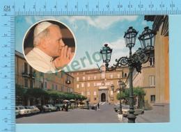 Pape, Papa, Pope -  1980 Place De La Liberté Et Palais Papal, Papa Giovanni Poalo II, Pape  Jean Paul II - 2 Scans - Papes