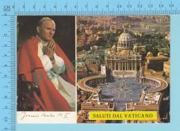 Pape, Papa, Pope - Multivues - Saluti Dal Vaticano, Papa Giovanni Poalo II, Pape  Jean Paul II - 2 Scans - Papes