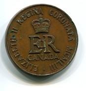 1953 Canada QEII Coronation Commemorative Medal - Royaux / De Noblesse