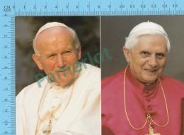 Pape, Papa, Pope - Giovanni Poalo II & Benedetto XVI,  Pape  Jean Paul II & Benoit XVI - 2 Scans - Papes