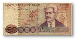 BRASIL - 50 000 CRUZEIROS - ND ( 1984 ) - P 204.a - Serie 1084 - Sign. 21 - Oswaldo Cruz - Brazil