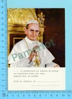 Pape, Papa, Pope - Carte De Bénédiction  Pape Paul VI Paulus VI - 2 Scans - Papes