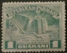 PARAGUAY 1952 The 500th Anniversary Of The Birth Of Christopher Columbus, 1451-1506. USADO - USED. - Paraguay