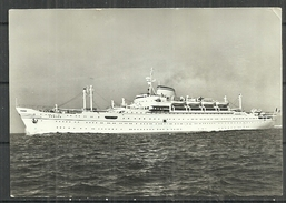 """M.S. """" AFRICA """" Vintage Postcard - Dampfer"""