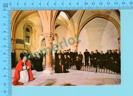 Pape, Papa, Pope -Visite Du Pape Au Cenacle Sur Le Mont Zion Paul VI Paulus VI  - 2 Scans - Papes