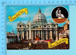 Pape, Papa, Pope - Benedicat Vos, Anno Santo 1975 Paul VI Paulus VI  - 2 Scans - Papes