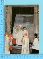 Pape, Papa, Pope - Paul VI Paulus VI  Ouvrant La Porte Sainte  - 2 Scans - Papes