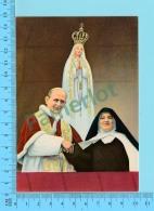 Pape, Papa, Pope - Paul VI Paulus VI Fatima Portugal Presentation De Soeur Lucie  - 2 Scans - Papes