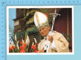 Pape, Papa, Pape Jean Paul II + Timbre Italien - 2 Scans - Papes