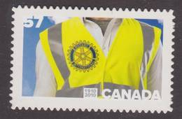 Canada 2010,  # 2394i, ROTARY CLUB  SINGLE MNH   DIE CUT - Carnets