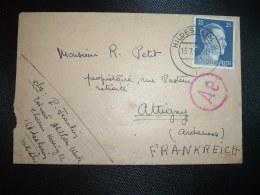 LETTRE TP 25 OBL.13 7 43 HILDESHEIM 2 Pour ATTIGNY ARDENNES (FRANCE) + CENSURE - WW2