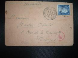 LETTRE TP 25 OBL.29 1 44 HANNOVER FLUGHAFEN Pour TROYES AUBE (FRANCE) + CENSURE - WW2
