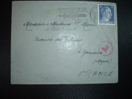 LETTRE TP 25 OBL.MEC.14 1 43 BRAUNSCHWEIG 7 Pour GERMAINE MARNE (FRANCE) + CENSURE - WW2