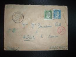 LETTRE TP ALLEMAGNE 20 + TP 5 OBL.14 9 43 STETTIN-FRAUENDORF Pour AVAUX ARDENNES (FRANCE) + CENSURE - 2. Weltkrieg