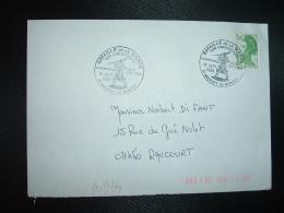 LETTRE TP LIBERTE DE GANDON 2,00 OBL.10 SEPT 1989 51 MAURUPT LE MONTOY BATAILLE DE LA MARNE 75eme ANNIVERSAIRE - Guerre Mondiale (Première)