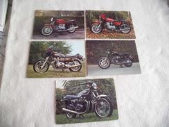 LOT DE 5 CARTES MOTOS ..SSUZUKI GSX ..BMW ..BENELLI ..YAMAHA ET KAWASAKI - Postcards