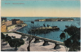 Malta - Saluting Battery ( & Steamer)  - (Malta) - Malta