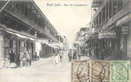 Port-Saïd - Rue De Commerce, Belle Animation - Cairo Postcard - Port Said