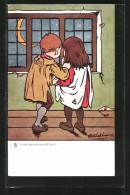 CPA Illustrateur George Edward Shepheard: Junges Paar Schaut Aus Dem Fenster - Shepheard