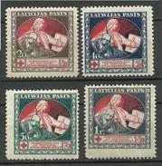 LATVIA Lettland 1920 Michel 51 - 54 Z MNH - Latvia
