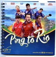 FRANCE - Jeux Olympiques RIO 2016 - Fascicule De Présentation De La Sélection - Tennis Table Tischtennis Tavolo - Tennis De Table