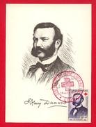 Carte Maximum - Henry Dunant - Croix Rouge - Lyon Juin 1959 -