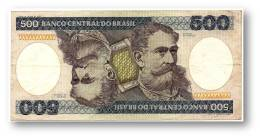 BRASIL - 500 CRUZEIROS - ND ( 1985 ) - P 200.b - Serie 3903 - Sign. 21 - Deodoro Da Fonseca - Brasile