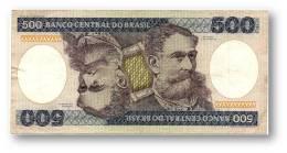 BRASIL - 500 CRUZEIROS - ND ( 1985 ) - P 200.b - Serie 4075 - Sign. 21 - Deodoro Da Fonseca - Brasil