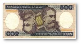 BRASIL - 500 CRUZEIROS - ND ( 1985 ) - P 200.b - Serie 4190 - Sign. 21 - Deodoro Da Fonseca - Brazil