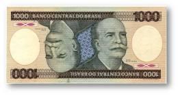 BRASIL - 1000 CRUZEIROS - ND ( 1985 ) - P 201.c - Serie 8459 - Sign. 22 - Prefix A - Barão Do Rio Branco - Brasile