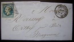 1859 Chateau Gontier Pc Sur Une Lettre Pour Orthes (Mayenne) - 1849-1876: Periodo Classico