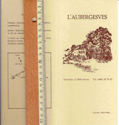 Ancienne Carte Publicitaire Pour L'Aubergesves, Pourrain, 4, Gesves - Publicités
