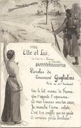 Jaartal 1916 ... SOLDAAT.....SOLDIER ...SOLDAT.....VROUW.. ..FEMME...FRAU....LADY... .DONNA.....DAMA....KVINNA - Vrouwen
