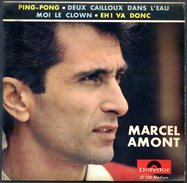 FRANCE 1964 - MARCEL AMONT - Ping-pong - Disque 45 Tours - Tischtennis Tavolo - Ediciones Limitadas