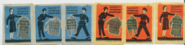 MATCHBOX LABELS RUSSIA CCCP URSS 1960's COATS OLD ADVERTISEMENT - Old Paper