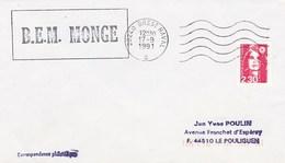 BEM MONGE BREST NAVAL 17/09/1991 - Marcophilie (Lettres)