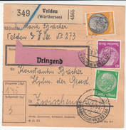 Germany Reich WWII Parcel Card 1942 Velden To Zwischenwassern (Medvode Slovenia) B170115 - Alemania