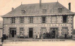 CHARBONNIERES - LES - VIEILLES 63 - HOTEL-CAFE DE LA PAIX DUMAS  - Epicerie, Mercerie - ANIMEE - 1907 - TBE - RARE - Autres Communes