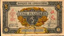 INDOCHINE  5 PIASTRES  De 1942-45nd  Pick62 - Indochina